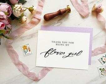Thank you Flower Girl, Card For Flower Girl, Flower Girl Thank You Card, Flower Girl Request Card, Be My Flower Girl, Flower Girl Card