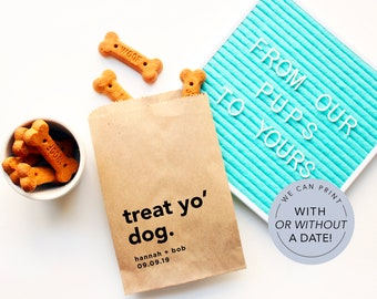Dog Treat Favor Bag   Wedding Favor Bags   Personalized Wedding Favor Bags, Custom Favor Bags   Favor Bags Wedding   Dog treats bag