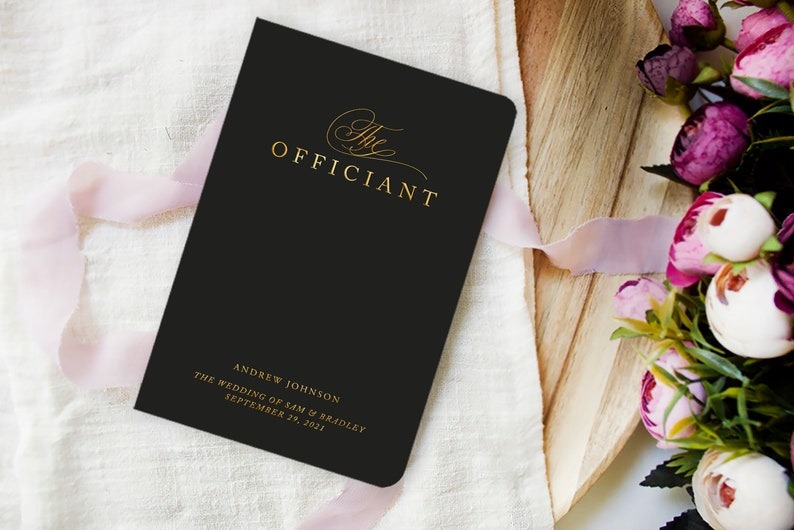 Wedding Officiant Book Officiant Gift Officiant Journal image 0