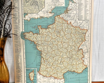 Map Of France 1940.1940 Paris Map Etsy