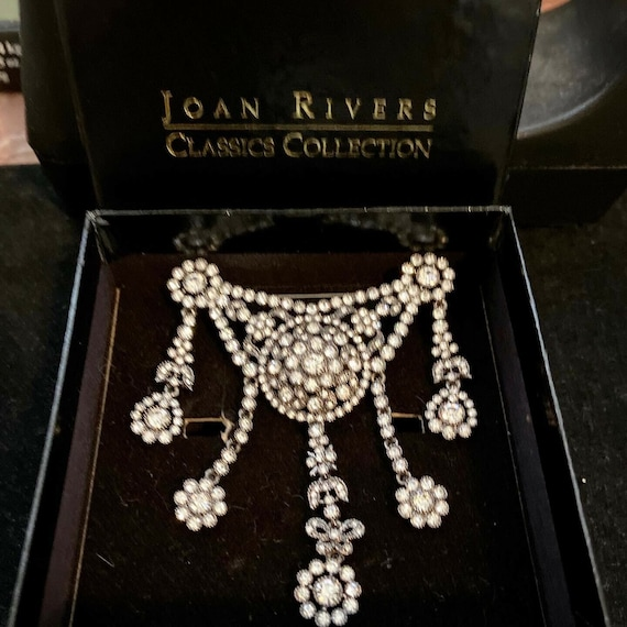 Joan Rivers Brooch Estate Jewelry With Original Bo