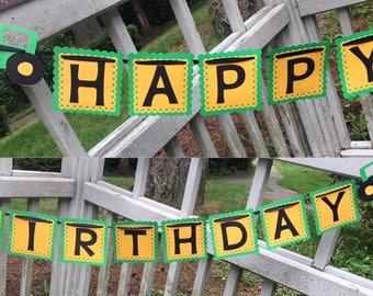 Tractor Highchair Banner, Photo Prop, Happy Birthday Banner, Farm Birthday, Farm Banner, Farm Photo Prop