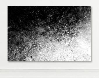 ICELAND SERIES - Large Metal, Canvas or Print - Ice Cave Glacier Black & White - Abstract Wall Art