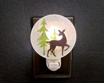 Deer Night Light, Christmas Night Light, Winter Night Light