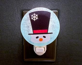 Snowman Night Light, Winter Night Light, Christmas Night Light