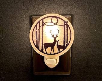 Deer Night Light, Mountain Cabin Night Light.