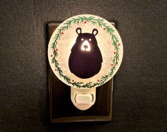 Winter Bear Night Light, Winter Decor
