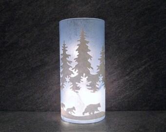 Polar Bear Light, Winter Decor