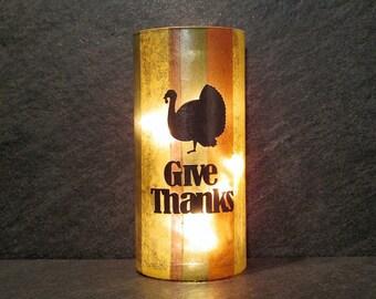 Give Thanks Thanksgiving Light, Turkey Light, Thanksgiving Table Light