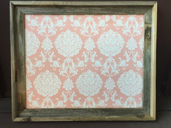 Fabric Covered Corkboardframed Pin Boardbarnwood Bulletin Etsy