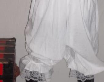 custom size white pantaloons with white lace