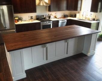 Superbe Black Walnut Kitchen Island Top // Counter Top // Wood Counter // Hardwood