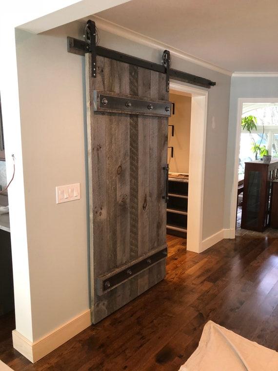 Natural Grey Barn Door / Industrial Sliding Door / Handmade | Etsy
