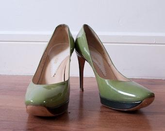 c92072b982e4c Olive green heels | Etsy