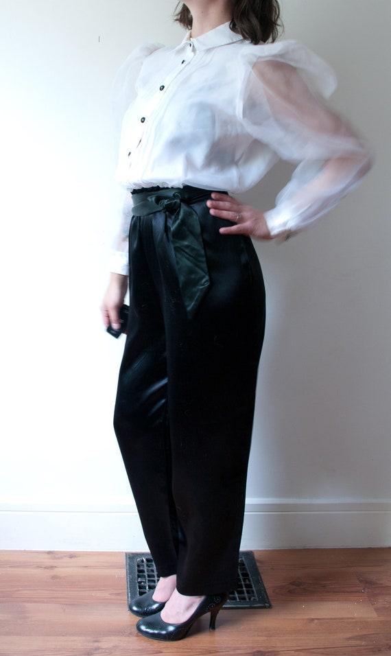 1980's White and Black Tuxedo Pant Suit / Vintage… - image 2