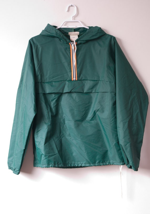 1980's Green Windbreaker Jacket / Vintage Kayjet S