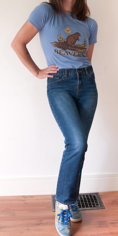Vintage Style Lee Straight Leg Jeans / Vintage Hig