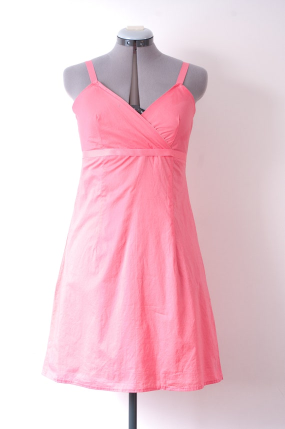 1960's Pink Mini Dress / Vintage Cotton Summer Dre