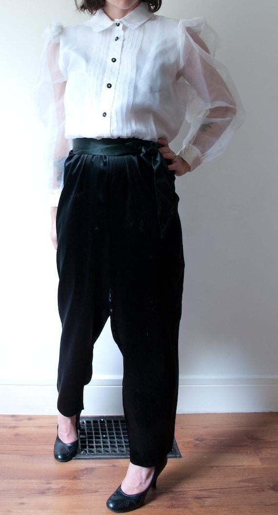 1980's White and Black Tuxedo Pant Suit / Vintage… - image 10