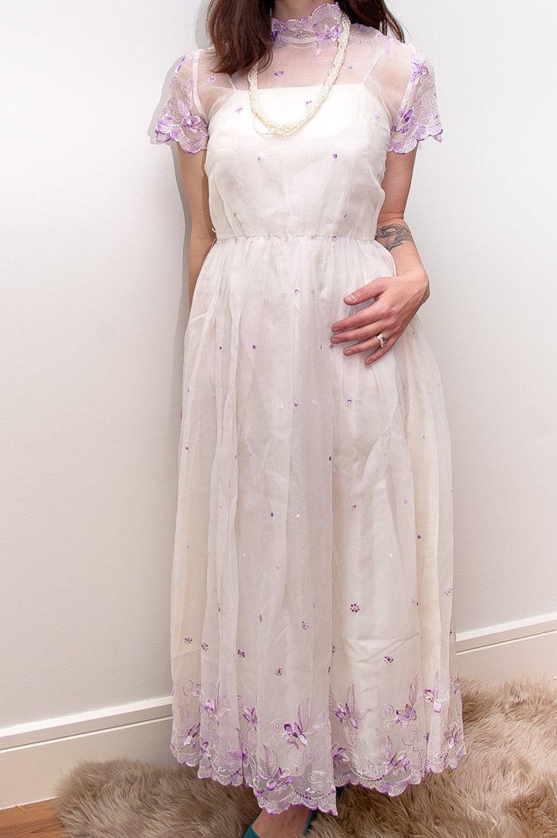 Short Wedding Dress with Sheer Overlay
