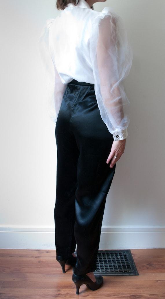 1980's White and Black Tuxedo Pant Suit / Vintage… - image 6