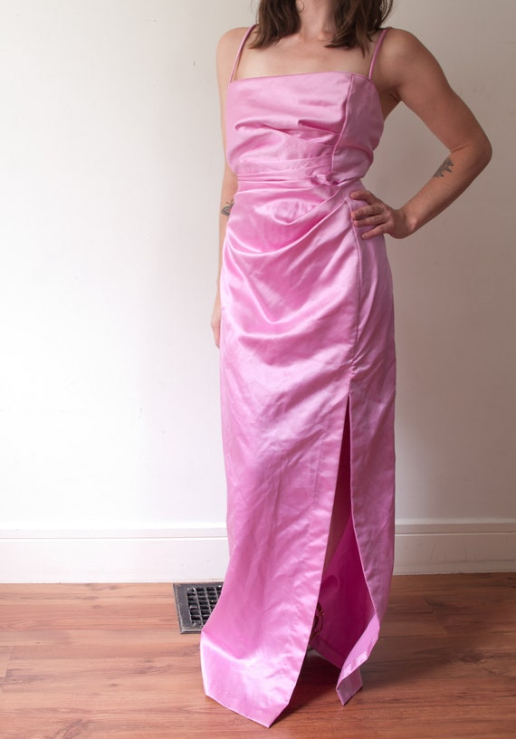 1990's Pink Jessica McClintock Gown / Vintage Gunn
