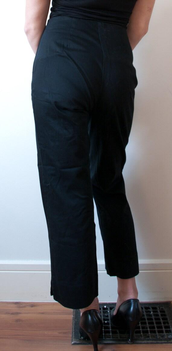 Vintage Black High Rise Cigarette Pant / 1990's B… - image 6