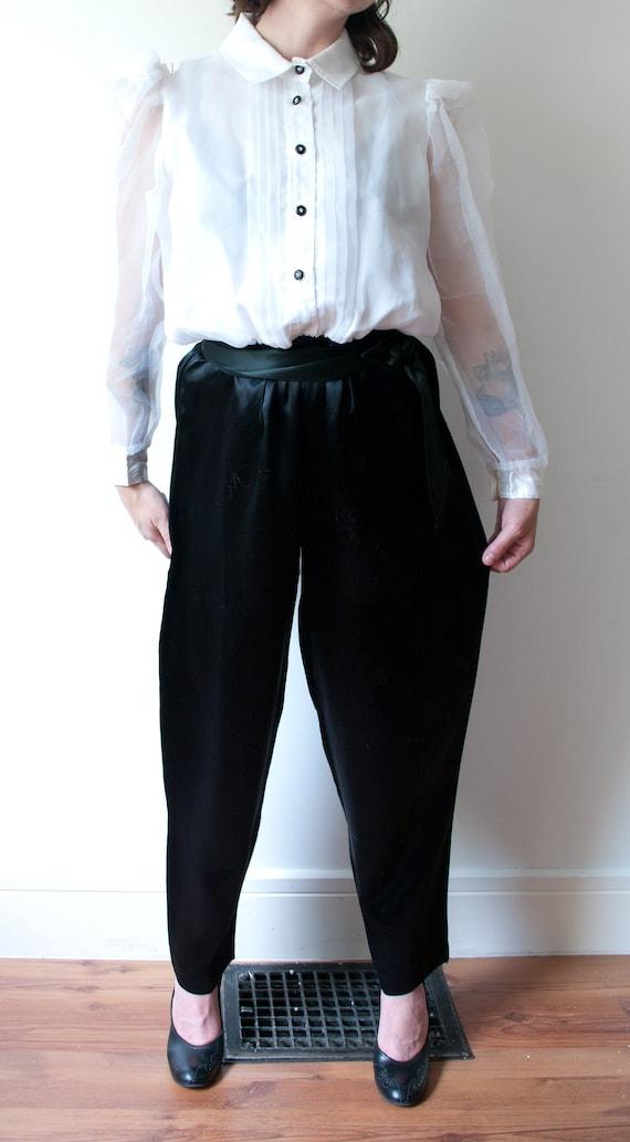 1980's White and Black Tuxedo Pant Suit / Vintage… - image 4