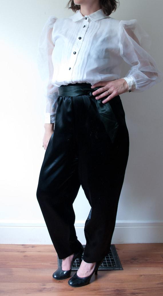 1980's White and Black Tuxedo Pant Suit / Vintage… - image 7