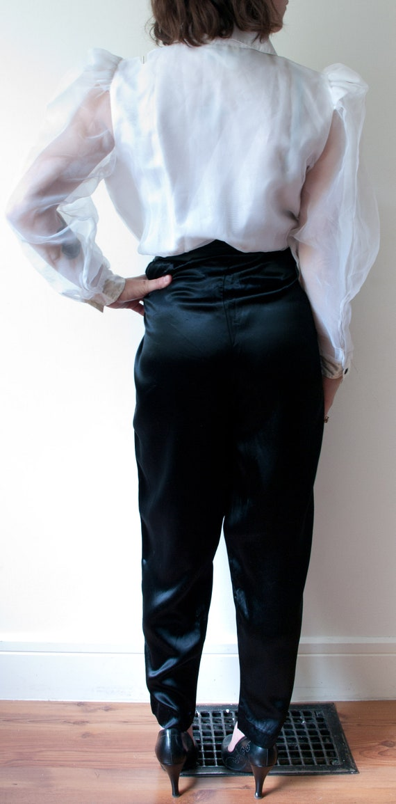 1980's White and Black Tuxedo Pant Suit / Vintage… - image 5