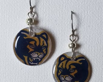 Brigham Young University earrings, Brigham Young University jewelry, BYU, school spirit jewelry