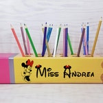 Minnie Teacher gifts - Disney gift - Personalized teacher gift - Pencil holder - Teacher appreciation gift - Gift idea - Desk Name