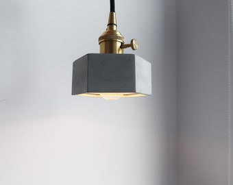 HALO brass geometry concrete night light / Pendant lamp / Chandelier / Tablelamp (without bulb)