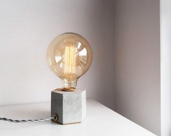 HEXAGON brass geometry concrete lamp / tablelamp / desk lamp (Dimmable switch)