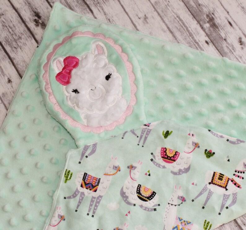Lovey Blanket Cuddle Blanket Llama Lovey Security Blanket Llama Baby Blanket Personalized Lovey Lovey Baby Blanket