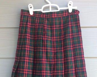 Funky Vintage 70's Schoolgirl Pleated Skirt Size S/M