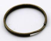 100 pcs Keychain Ring Clasps, Antique Brass Split Key Ring, Thicken Key Clasp, keychain fob, Pendants 24mm, Wholesale Lot Bulk Sale