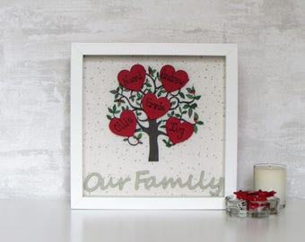 Family Tree, Family Tree Frame, Family, Family Sign, Gift for Family, Personalised Gift, Wooden Family Tree, Mothers Day Gift