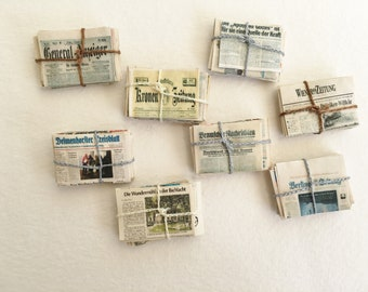 1:24 Miniature Dollhouse Newspaper Recycling Stack of Papers 1//2 Scale Room Box