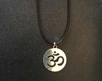 Large Silver Ohm Necklace