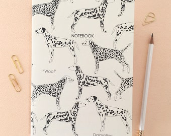 DALMATIAN A6 NOTEBOOK NOTEPAD JOTTER-NICE LITTLE GIFT FOR DOG LOVER