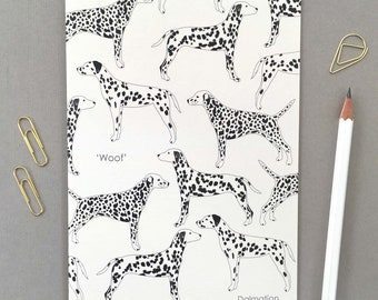 Dalmatian Print Greetings Card / Birthday card for the dog lover