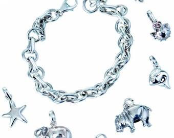 Lucky Charm Silver Pendant Hippo
