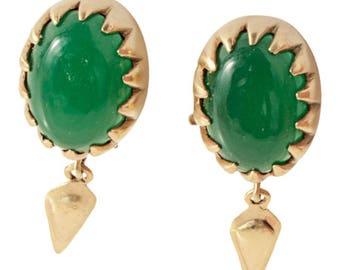 Yarra Clip On Earrings Green