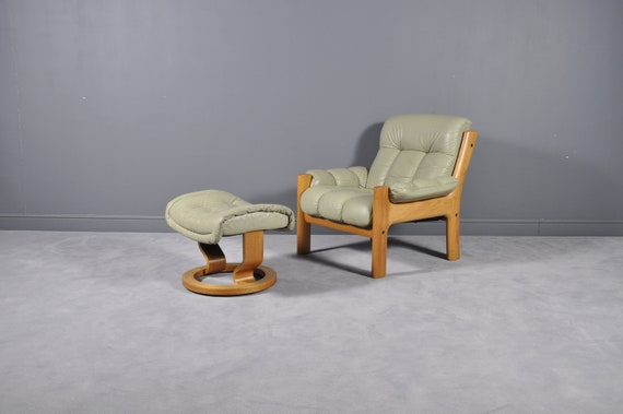 Outstanding Montana Leather Lounge Chair And Ottoman By J E Ekornes Norway Circa 1970S Ocoug Best Dining Table And Chair Ideas Images Ocougorg