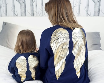 Angel Wing Jumper - Angel Wing Jumper Set - Mum and Daughter Matching - Mum and Daughter Matching Jumper Set