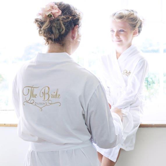 Brautgewand Braut Partei Roben personalisierte Hochzeits | Etsy