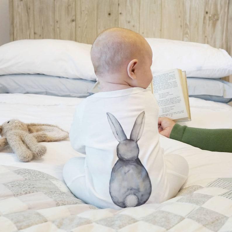 Unisex Babykleding.Bunny Sleepsuit Unisex Babykleding Baby Douche Gift Etsy