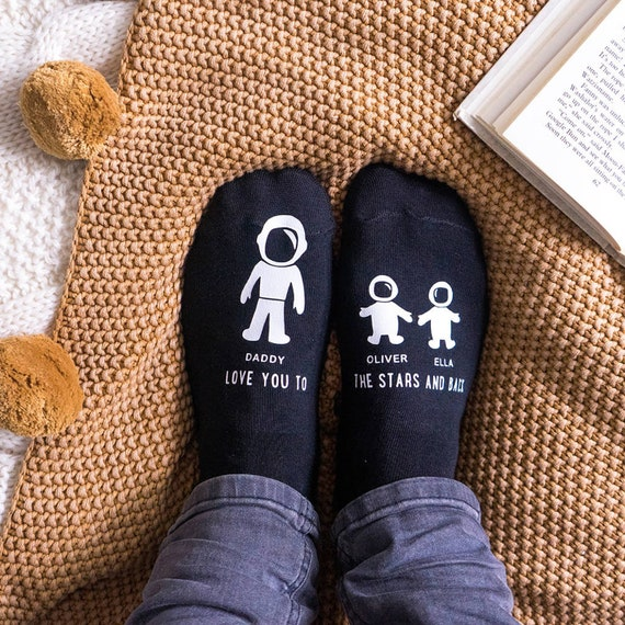 Mens//Boys Navy Blue Spacemen In Space Soft Cotton Ankle Socks