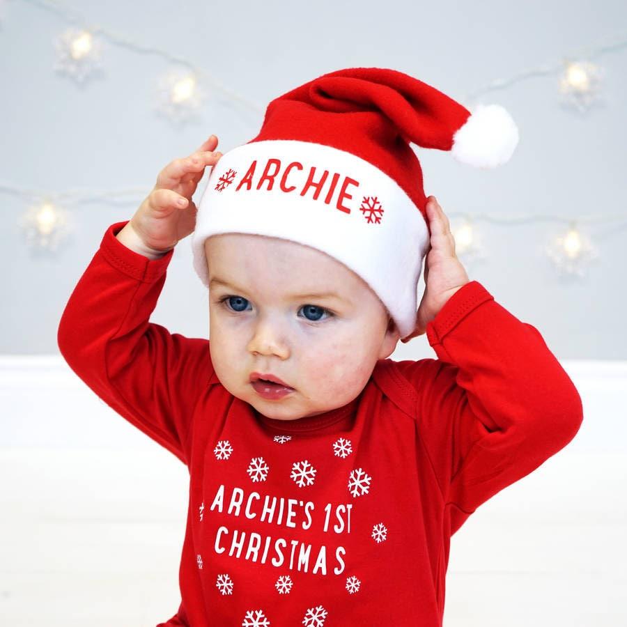 Babymütze Santa Hut erste Weihnachten erste Weihnachten   Etsy